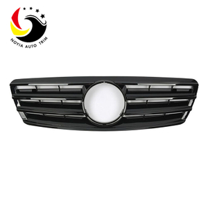 Benz C Class W203 AMG Style 00-06 Gloss Black 2-Fin Front Grille