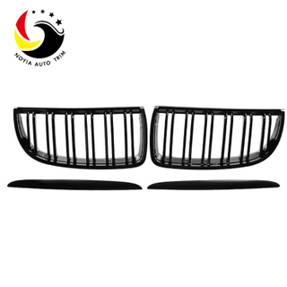 Bmw 3 Series E90/E91 05-07 2-Slat Gloss Black Front Grille