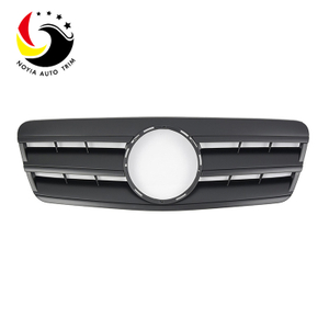 Benz CLK Class W208 AMG Style 98-02 Matte Black 3-Fin Front Grille