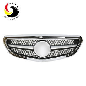 Benz E Class W212 AMG Style 14-15 Chrome Front Grille (Fits Facelift Basic Trim)