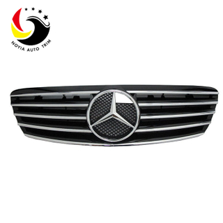 Benz S Class W220 Sport Style 99-02 Chrome Black Front Grille
