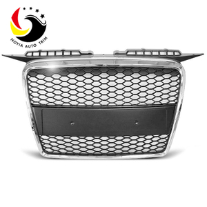 Audi A3 05-07 RS Style Chromed Frame Black Grid Front Grille (No Logo)
