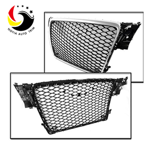 Audi A4 08-09 RS Style Chromed Frame Black Grid Front Grille (No Logo)