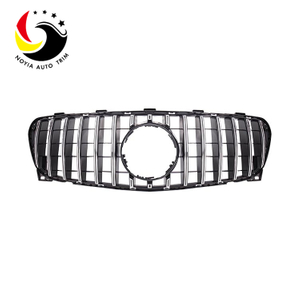 Benz GLA Class X156 16-IN GTR Style Chrome Silver Front Grille