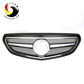 Benz E Class W212 AMG Style 14-15 Matte Black Front Grille (Fits Facelift Basic Trim)