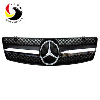 Benz SL Class W129 AMG Style 90-02 Chrome 1-Fin Black Front Grille
