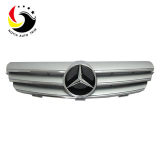 Benz CLK Class W209 AMG Style 03-07 Silver 3-Fin Front Grille