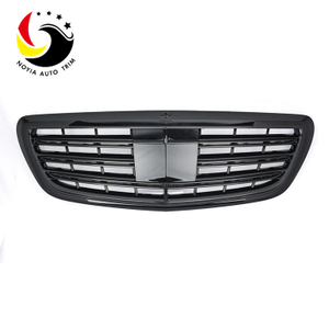 Benz S Class W222 S65 Style 14-IN Gloss Black Front Grille