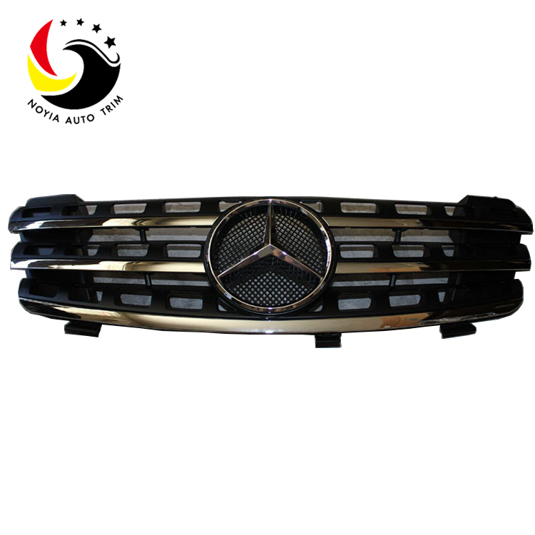 Benz ML Class W164 AMG Style 06-08 Chrome Black 3-Fin Front Grille