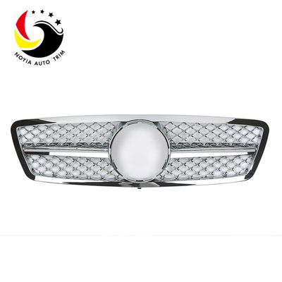 Benz C Class W203 AMG Style 00-06 Chrome 1-Fin Front Grille