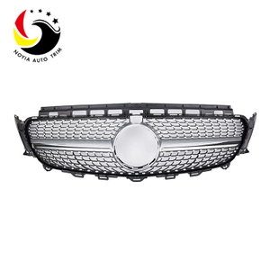 Benz E Class W213 Diamonds 16-IN Silver Front Grille (With Camera Hole)
