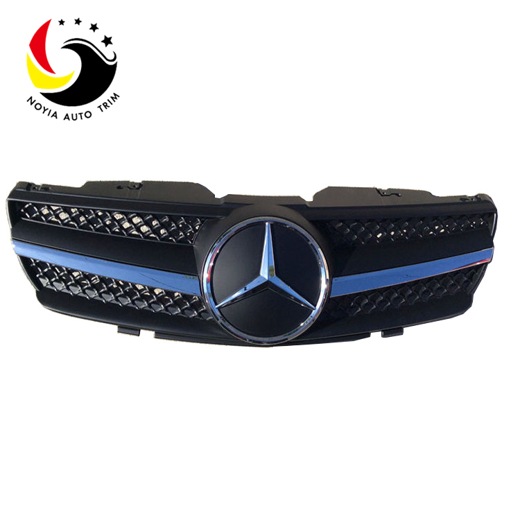Benz SL Class R230 AMG Style 03-07 Chrome Black 1-Fin Front Grille