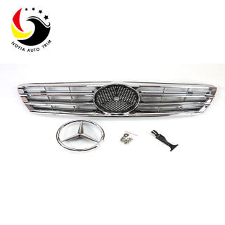 Benz C Class W203 AMG Style 00-06 Chrome Silver 3-Fin Front Grille