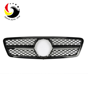 Benz C Class W203 AMG Style 00-06 Gloss Black 1-Fin Front Grille