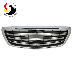 Benz S Class W222 S65 Style 14-IN Chrome Black Front Grille