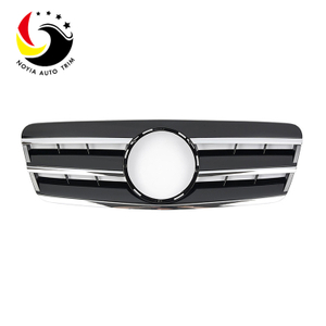 Benz CLK Class W208 AMG Style 98-02 Chrome Black 3-Fin Front Grille