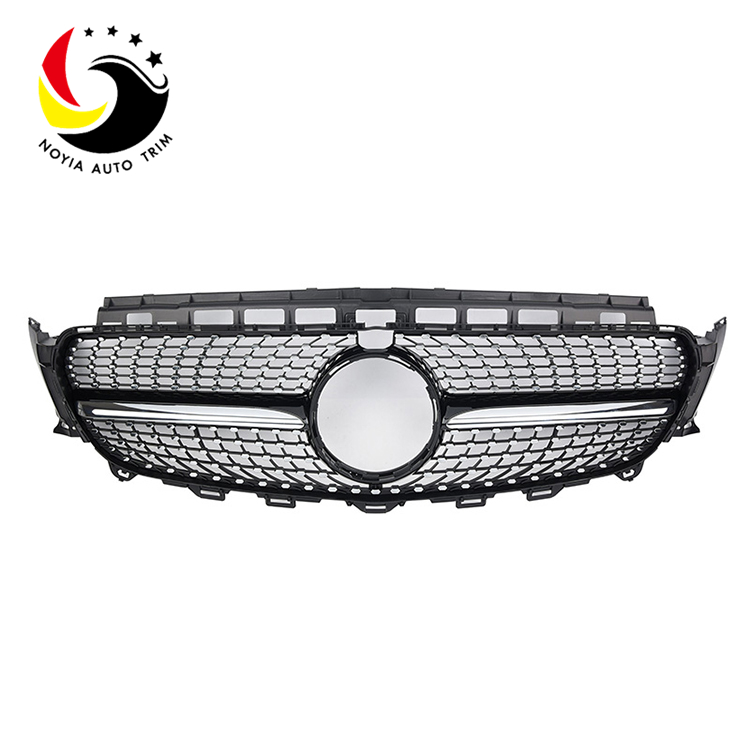 Benz E Class W213 Diamonds 16-IN Black Front Grille (With Camera Hole)