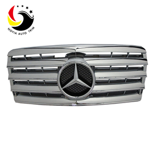 Benz E Class W124 AMG Style 94-95 Chrome Silver 3-Fin Front Grille
