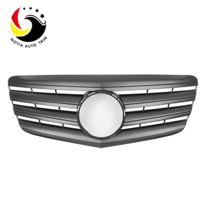 Benz E Class W211 AMG Style 07-09 Matte Black 2-Fin Front Grille